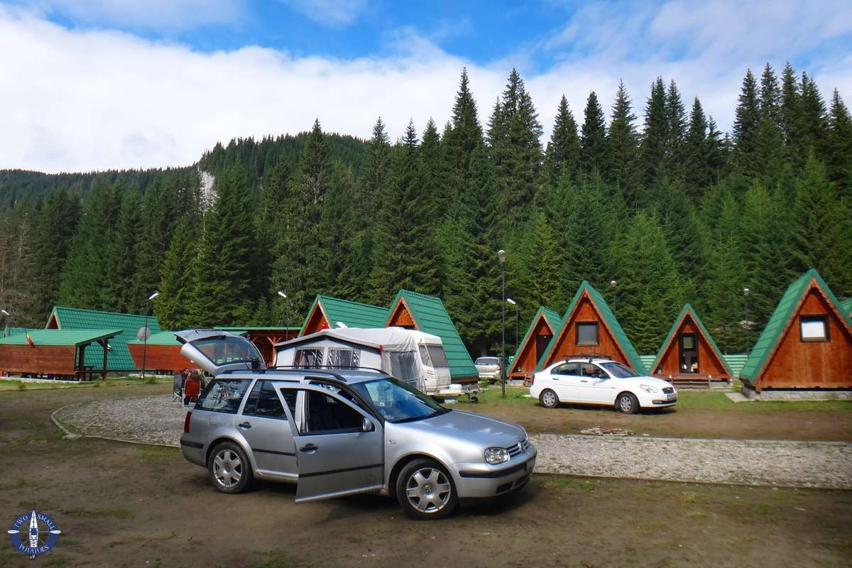 Camping at Camping Zanoaga in the Bucegi Mountains, Romania