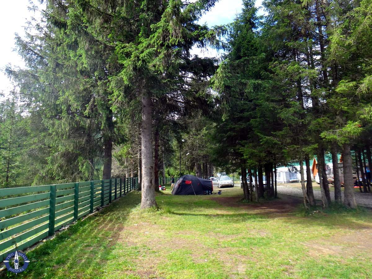 Tent pitches at Camping Zanoaga in Bucegi Natural Park, Romania