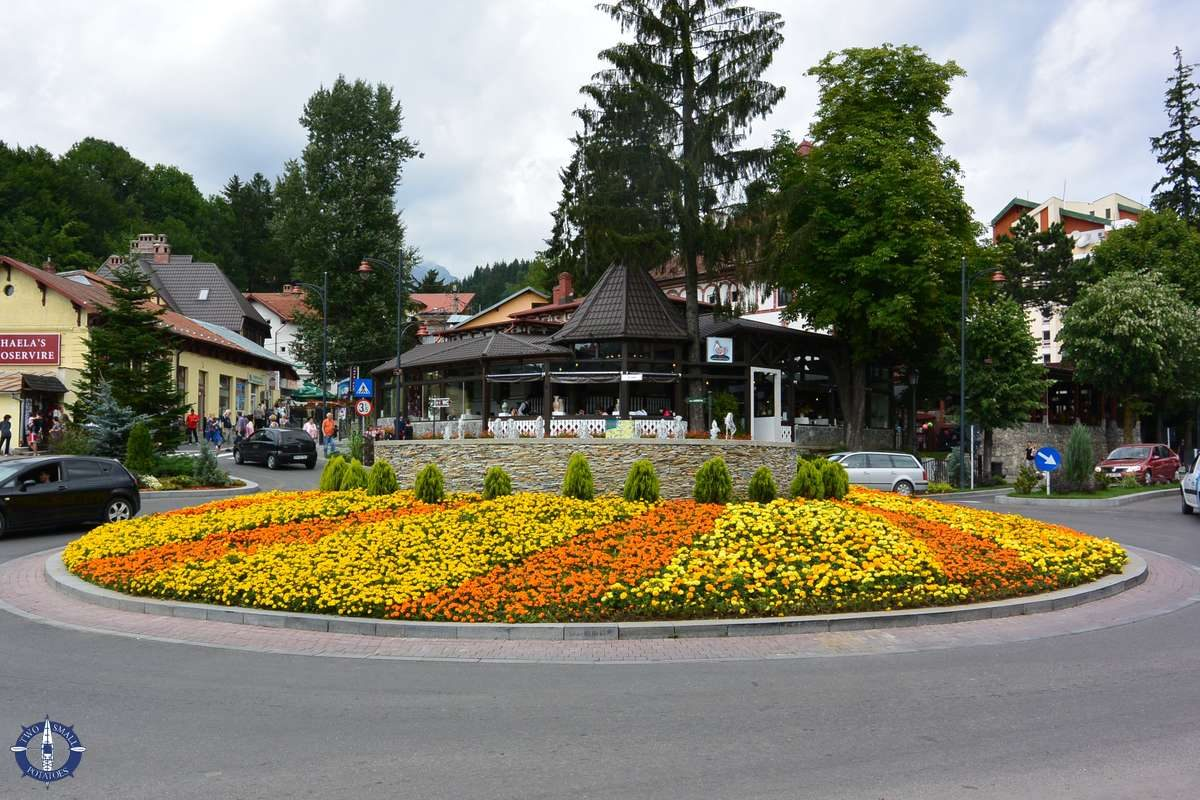 The town of Sinaia, Romania