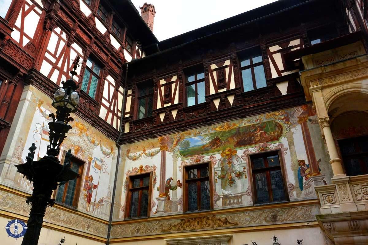 Neo-Renaisssance exterior of Peles in Romania