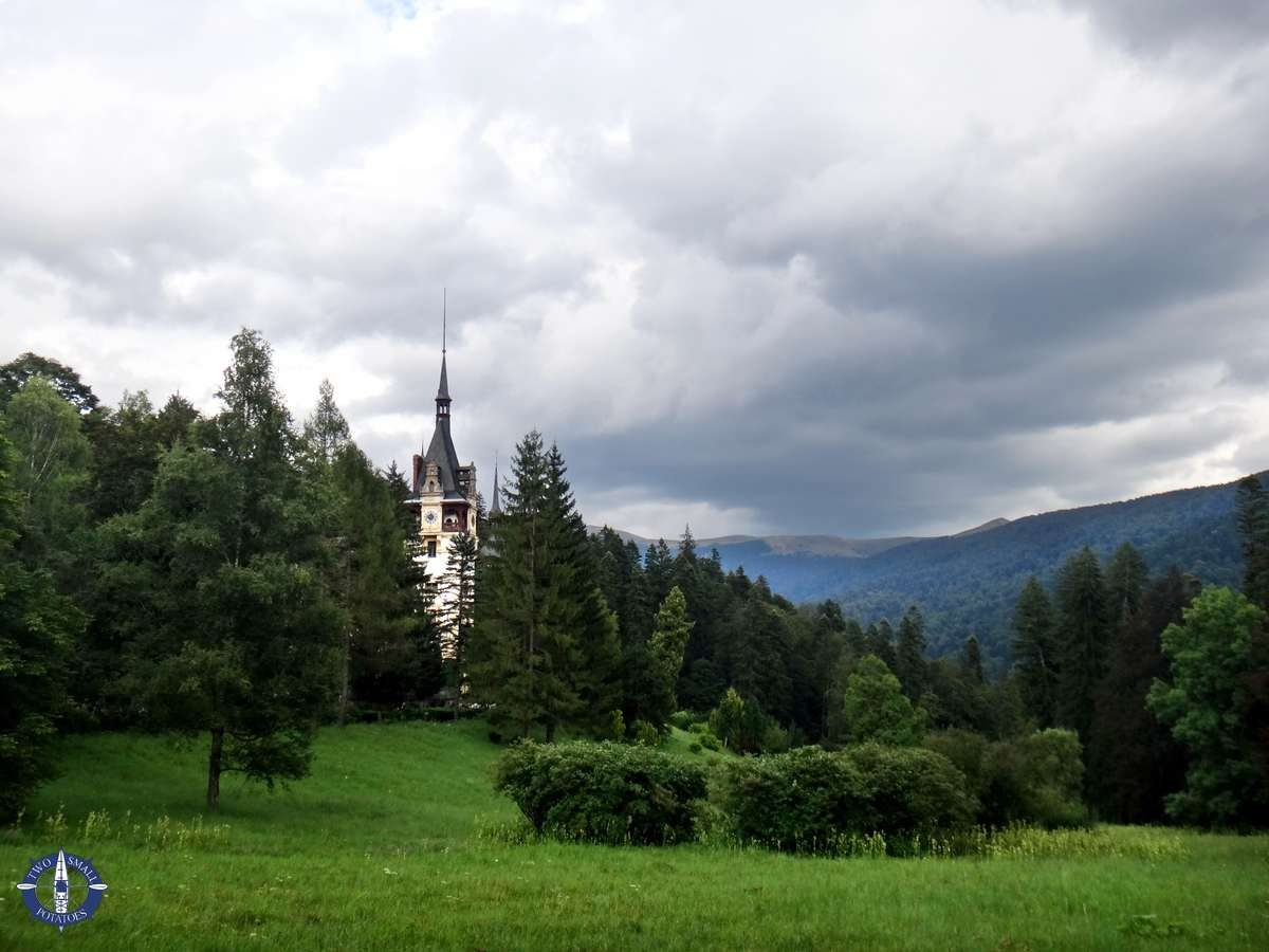 Peles Castle in the Carpathian Mountains of Romania