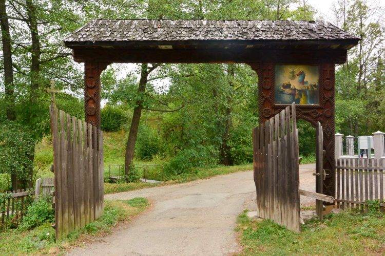 Entrance to one of the Wooden Churches of Maramures