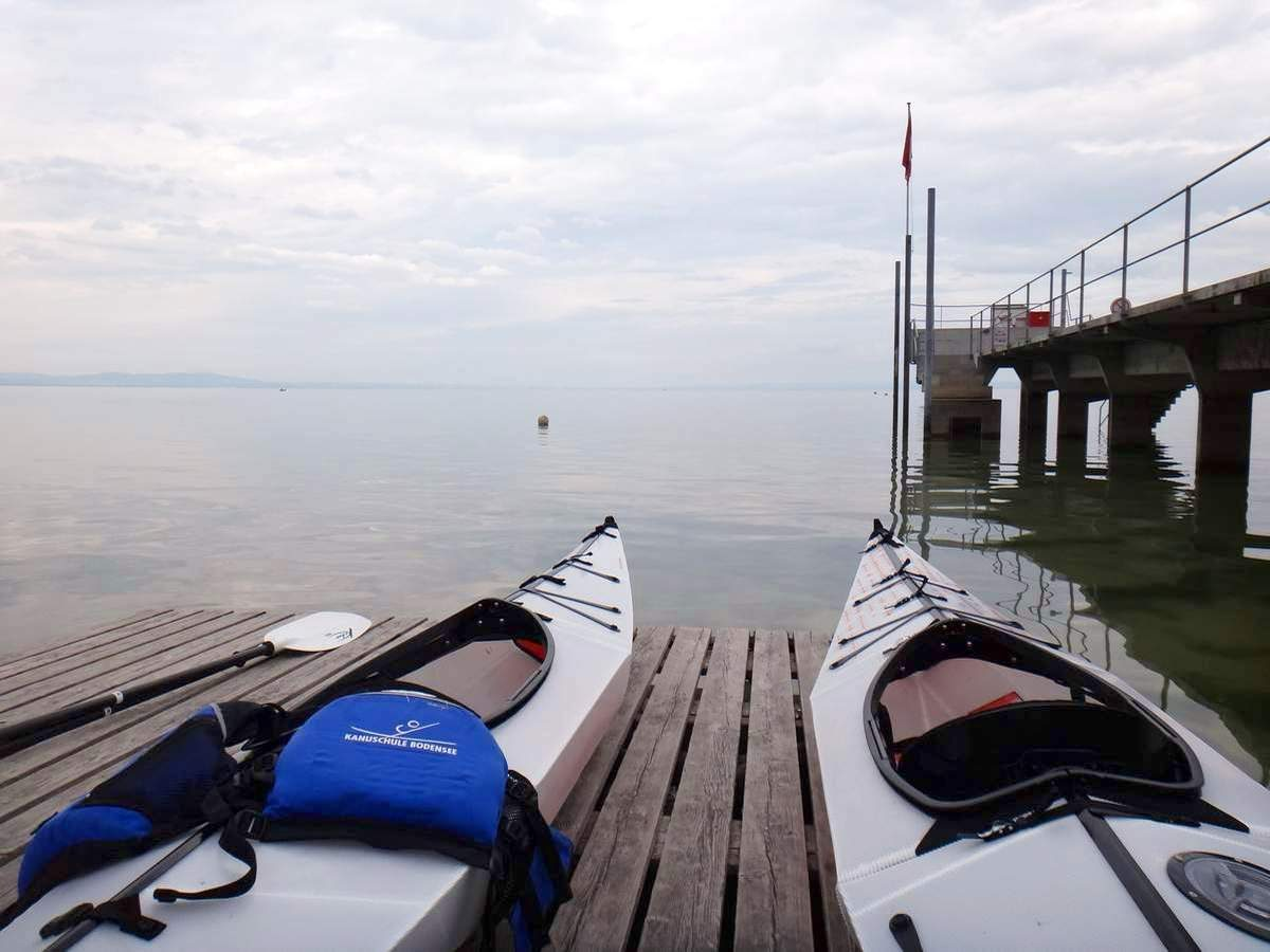 Demoing Oru kayaks on Bodensee, Switzerland