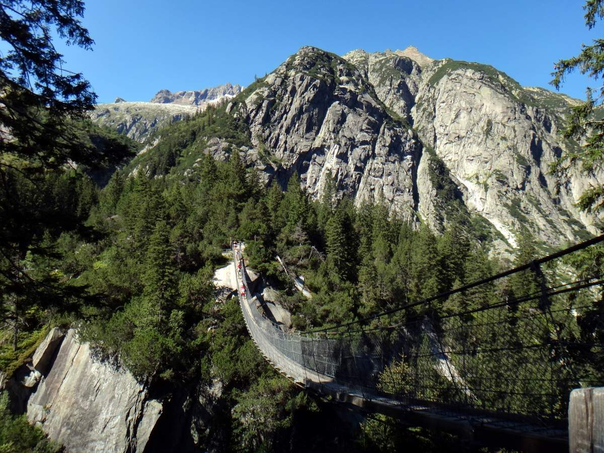Handeck Suspension Bridge in Switzerland