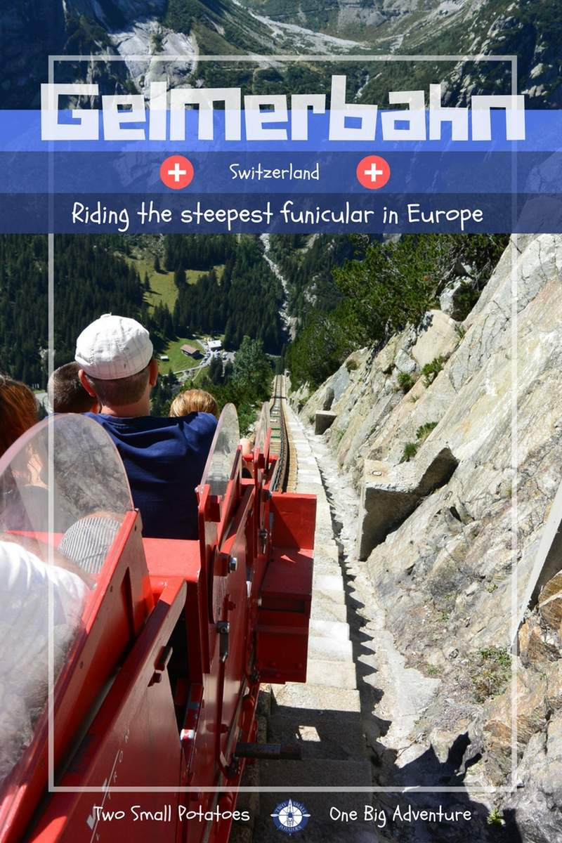 Have the guts to ride the steepest funicular in Europe?  What if we told you you'll be rewarded with a killer hike around one of the bluest lakes in the world at the top?  #Gelmerbahn #Switzerland #TatersTravels
