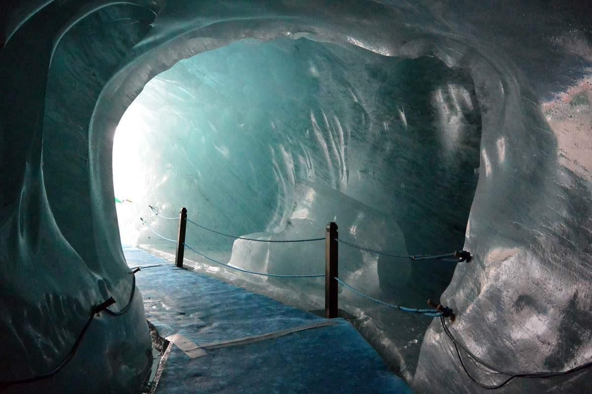 Inside France's Mer de Glace Ice Cave