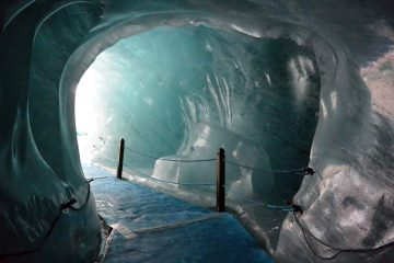 Inside France's Mer de Glace Ice Cave