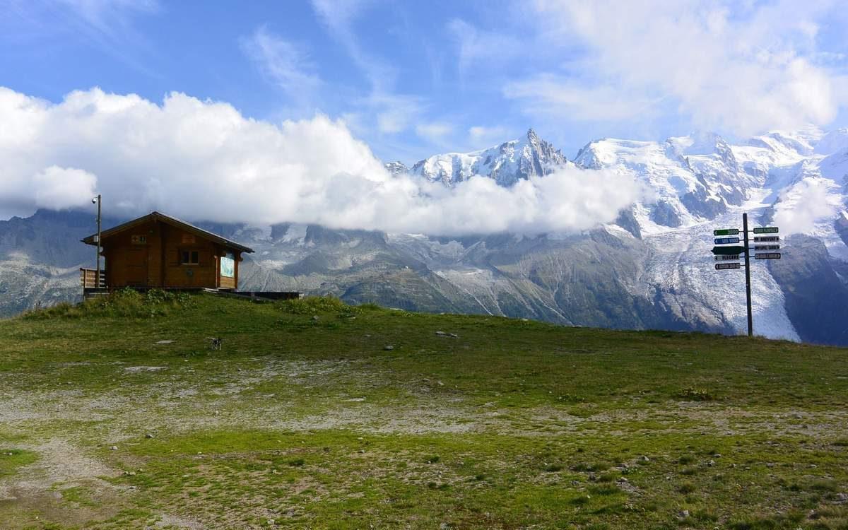Trail above Planpraz, French Alps