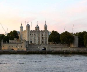 The Tower of London across the Thames River