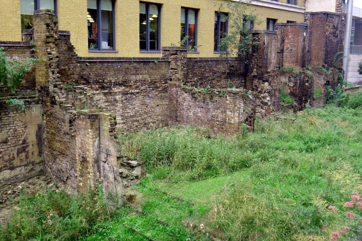 Roman ruins in London, England