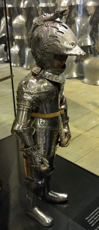 Child suit of armor at the Tower of London