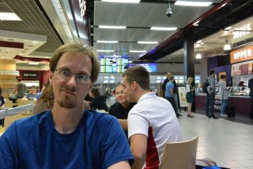 Passportless at Luton Airport in London, England