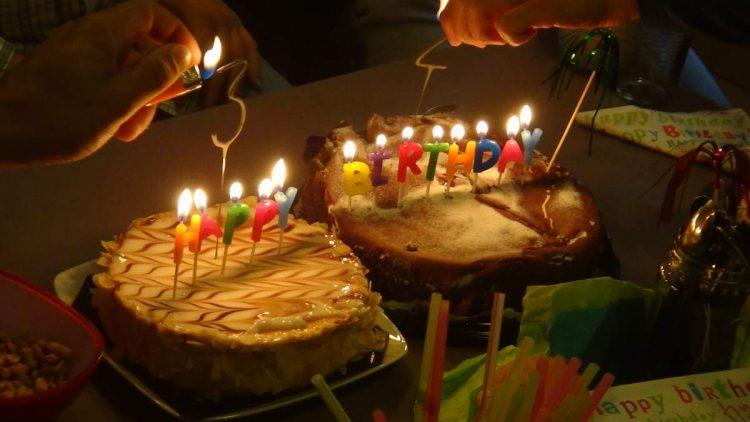 Carlos's birthday cakes in Fribourg, Switzerland