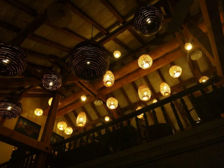 Lighting at La Hacienda Mexican Restaurant in Givisiez, Switzerland