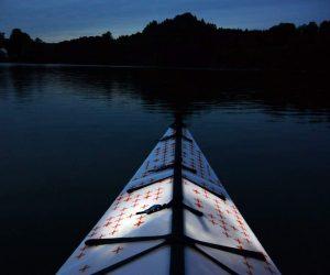 Oru kayaking on Lake Gruyere, Switzerland