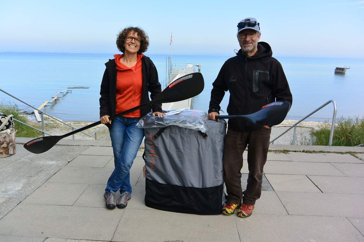 Buying oru kayaks from Kanuschule Bodensee in Arbon, Switzerland