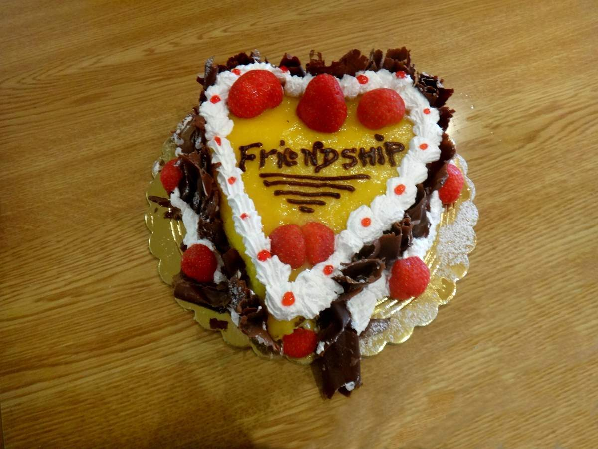 Cake from the Sprecher lab in Fribourg, Switzerland