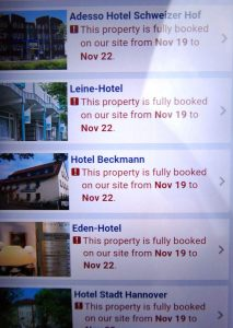 Fully booked lodging while we look for housing in Germany
