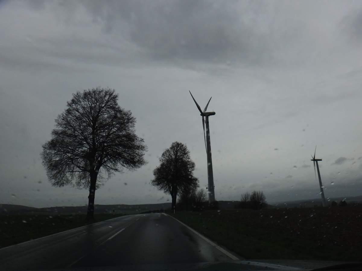Stormy day near Adelebsen, Germany