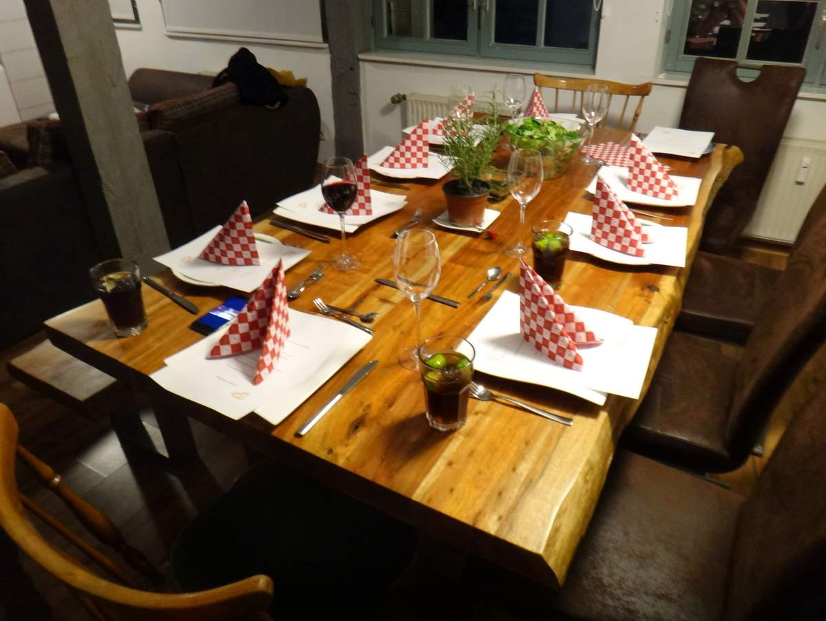 Our first Thanksgiving dinner in Germany
