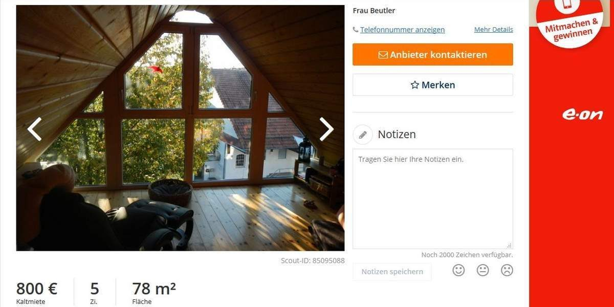 A-frame apartment for rent in Goettingen, Germany