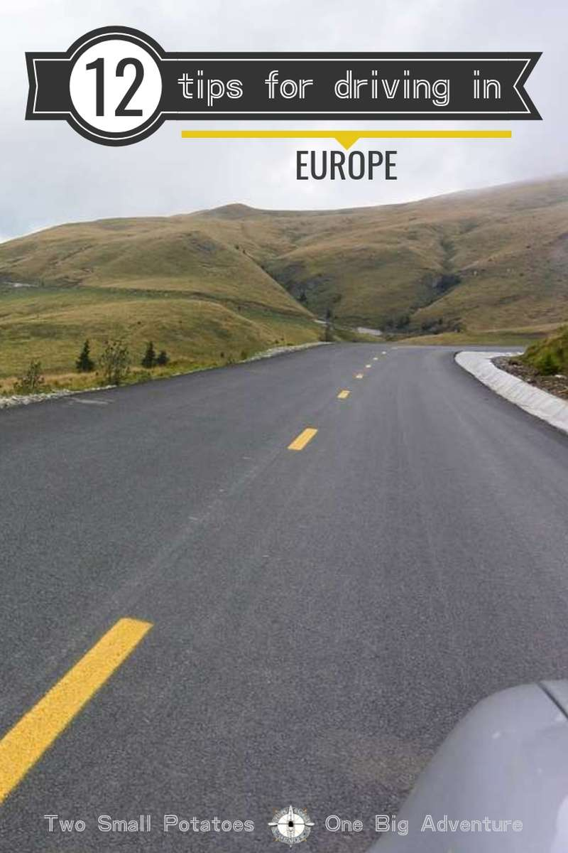 New to driving in Europe?  These 12 tips might be useful to ensure a more pleasant driving experience.  #TatersTravels