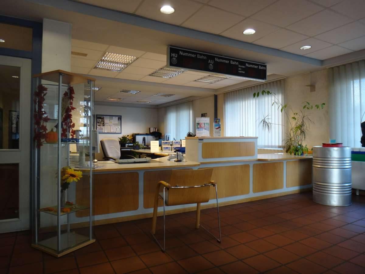 At TUV office registering car in Germany