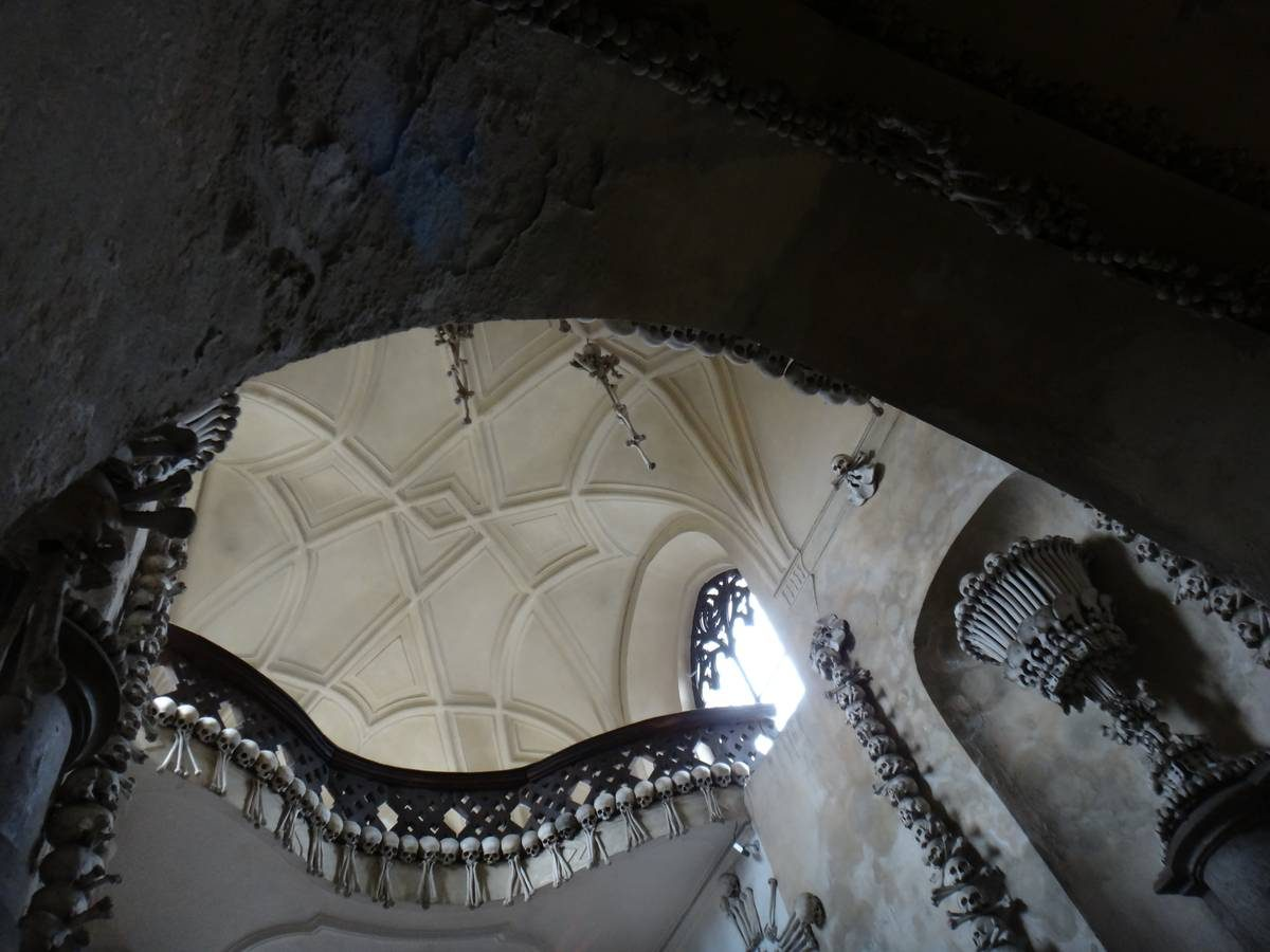 Upper atrium of Sedlec Ossuary