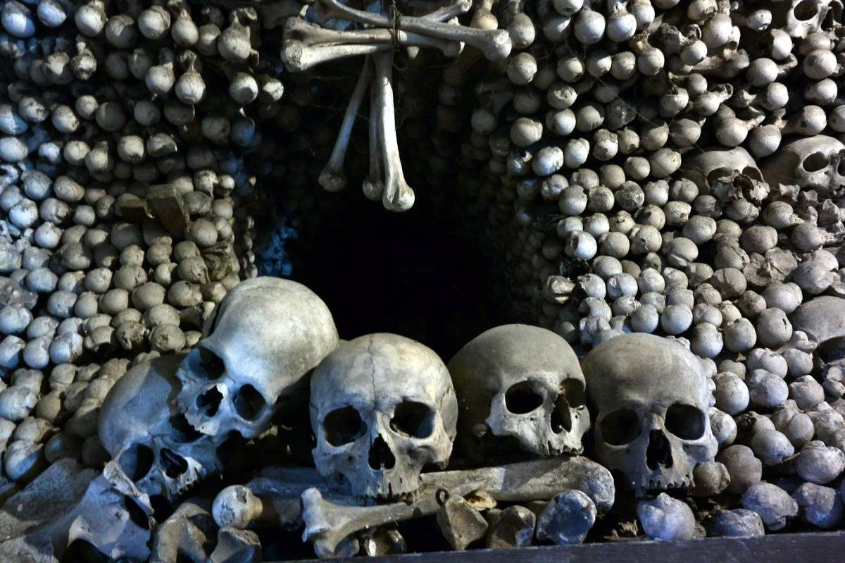 Skulls of Sedlec Ossuary, Czech Republic
