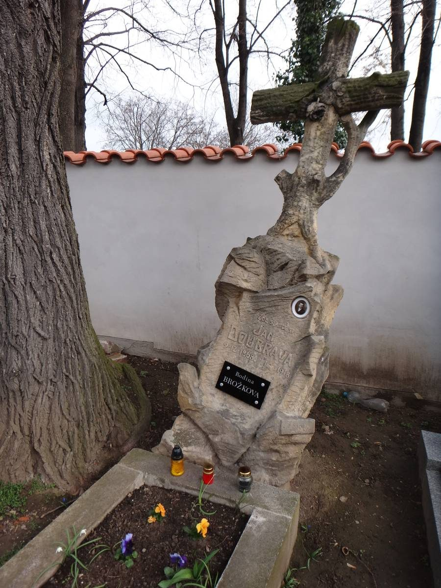 Tombstone in the Sedlec Ossuary cemetery