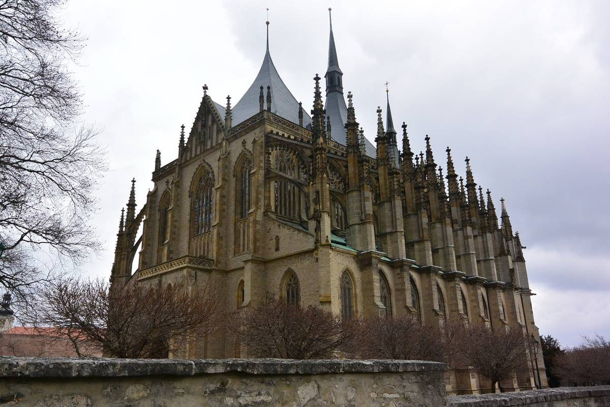 St Barbara Cathedral on a gray March day