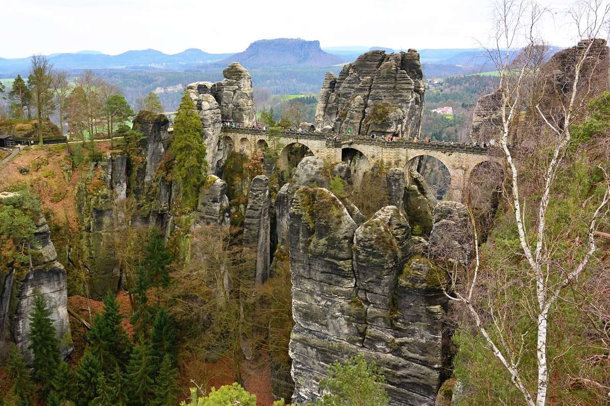 Bastei Bridge at Saxon Switzerland National Park