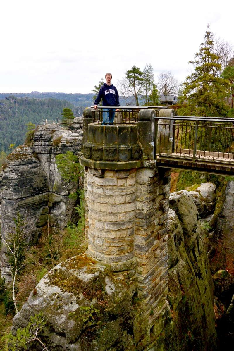 Bastei Rock in Saxon Switzerland National Park, Germany