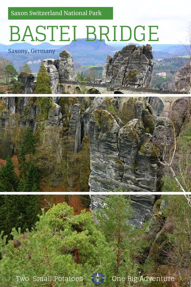Saxon Switzerland National Park is one of the most scenic in Germany.  Before visiting, see our travel tips, park map, and photo highlights.  #traveltips #nationalpark #TatersTravels