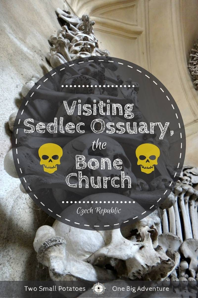 Sedlec Ossuary pin for Pinterest