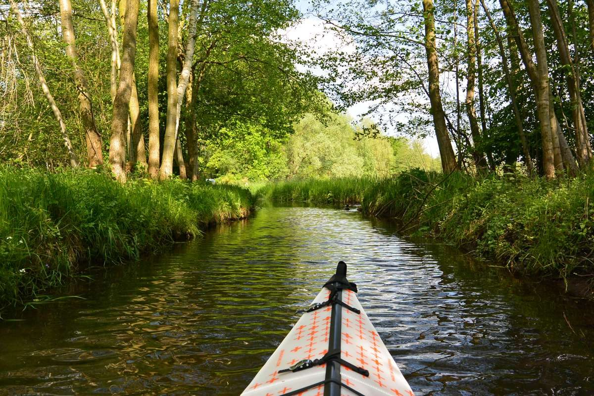 Kayaking in the Spreewald Biosphere Reserve in Germany