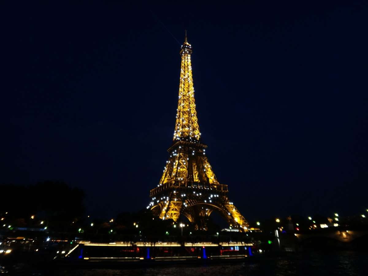 Eiffel Tower from Le Calife luxury Seine River cruise