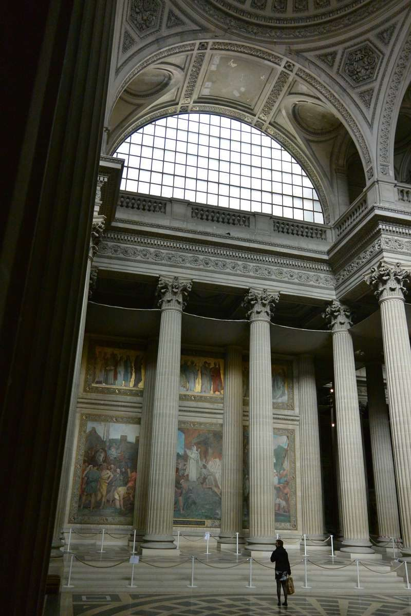 The mausoleum of the Pantheon in Paris