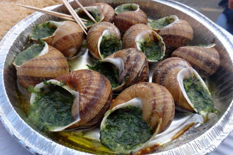 Garlic escargots at Sacre-Coeur in Paris