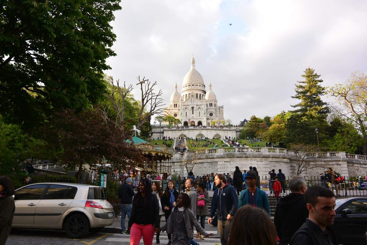 Sacre-Coeur on Montmartre Hill, Paris