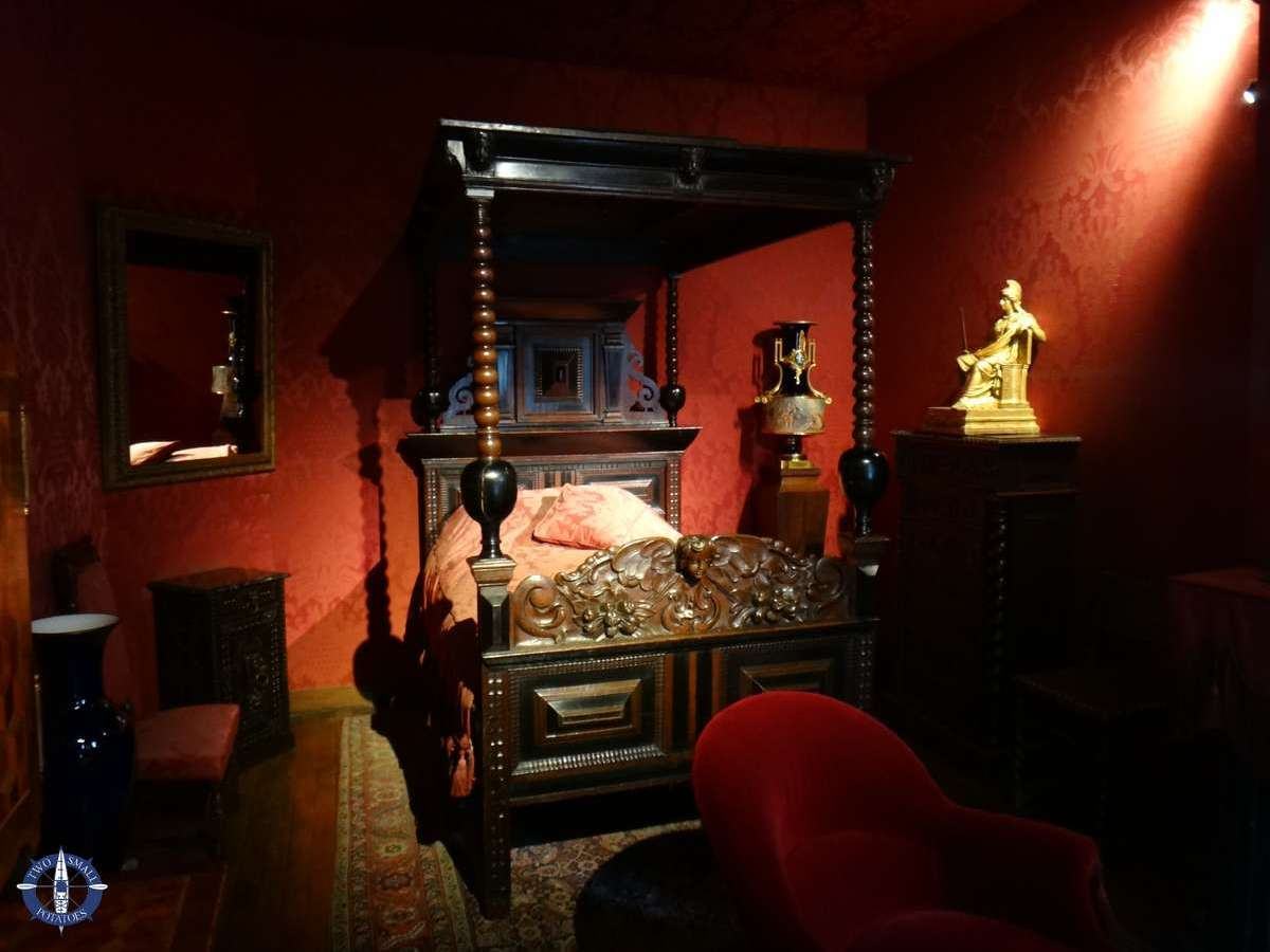 bed where Victor Hugo died in Paris, France