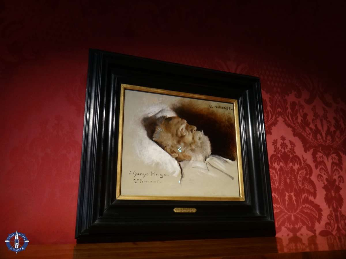 Portrait of Victor Hugo on his deathbed in Paris