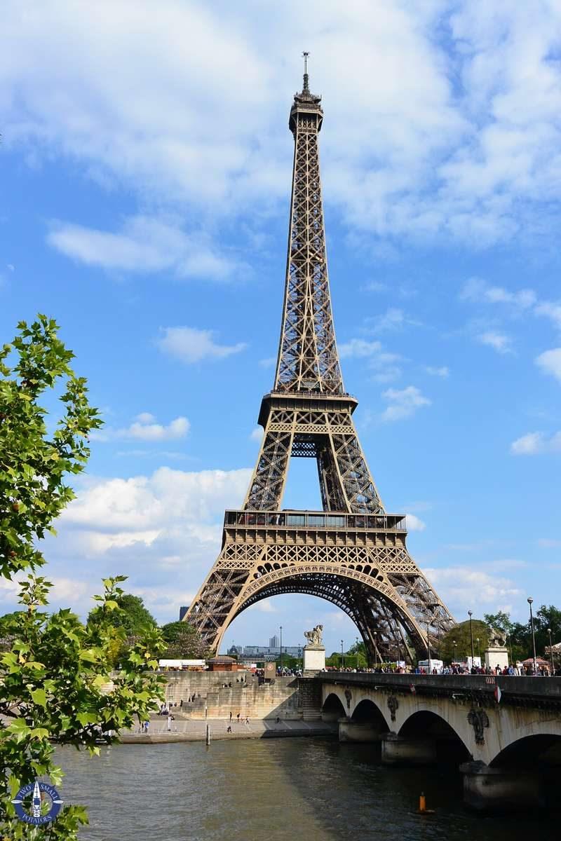 Eiffel Tower above the Seine River in Paris