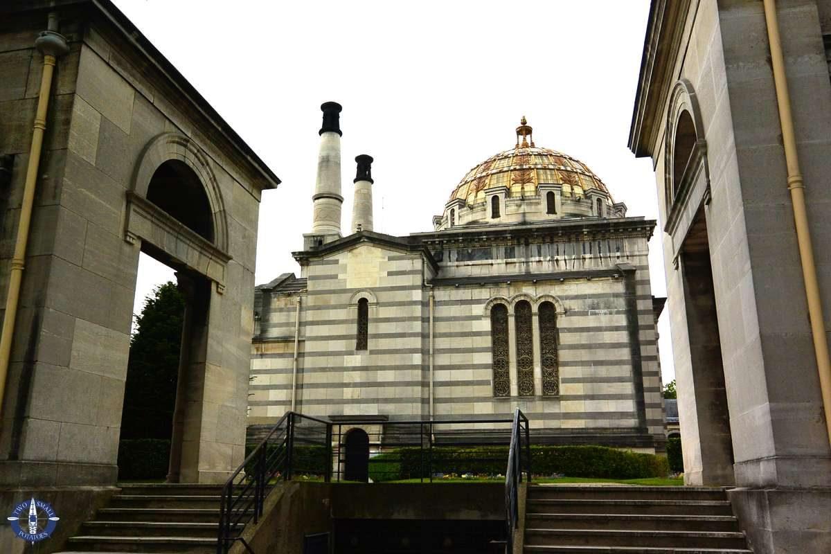 Columbarium at Pere-Lachaise Cemetery in Paris