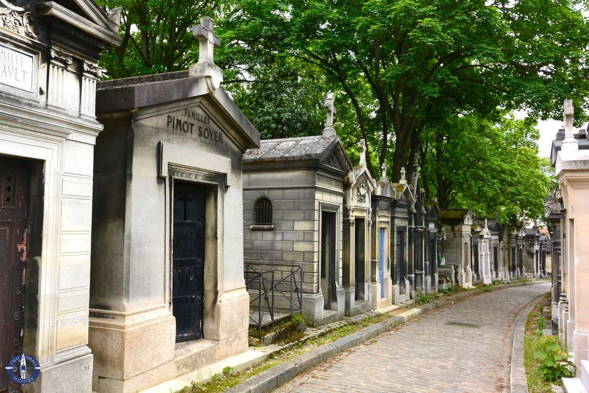 Image of tombs at Pere-Lachaise Cemetery in Paris for sale on Fine Art America