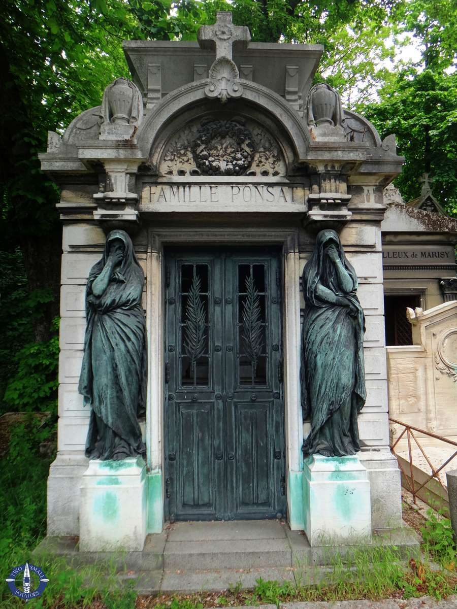 Mausoleum at Pere-Lachaise Cemetery in Paris