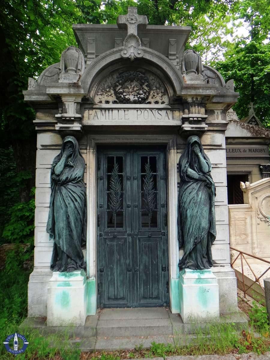 Mausoleum at Pere-Lachaise Cemetery in Paris