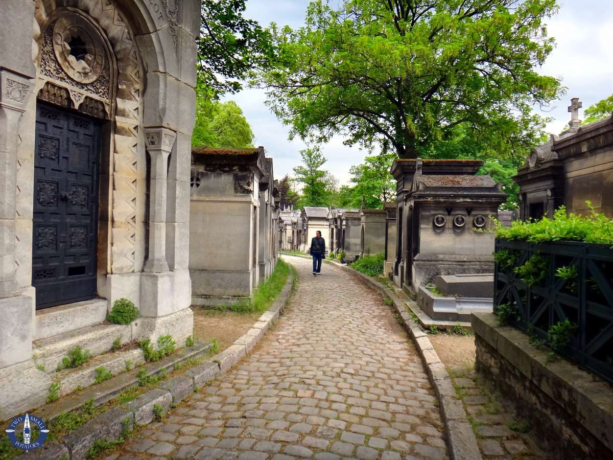 Pathways of Pere-Lachaise Cemetery in Paris