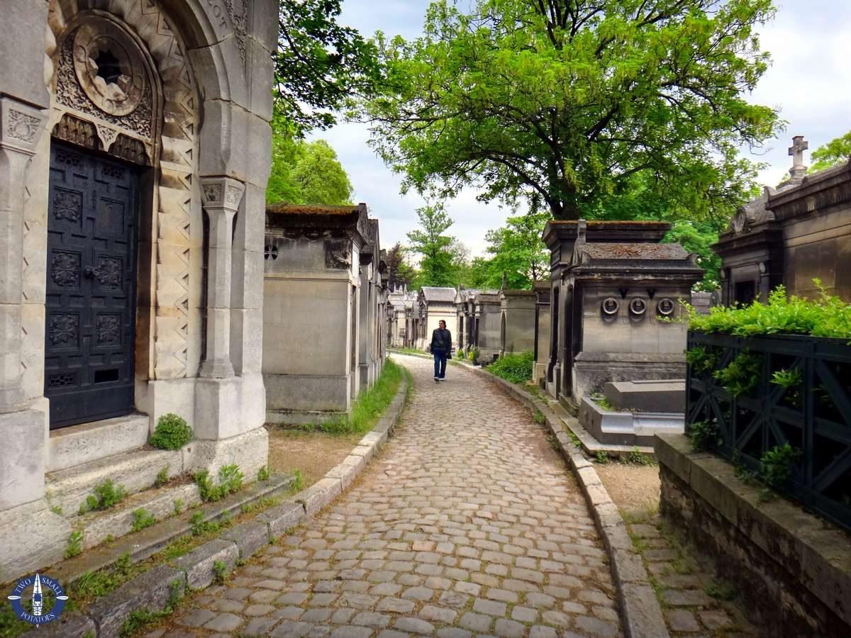 Pathways of Pere-Lachaise Cemetery in Paris