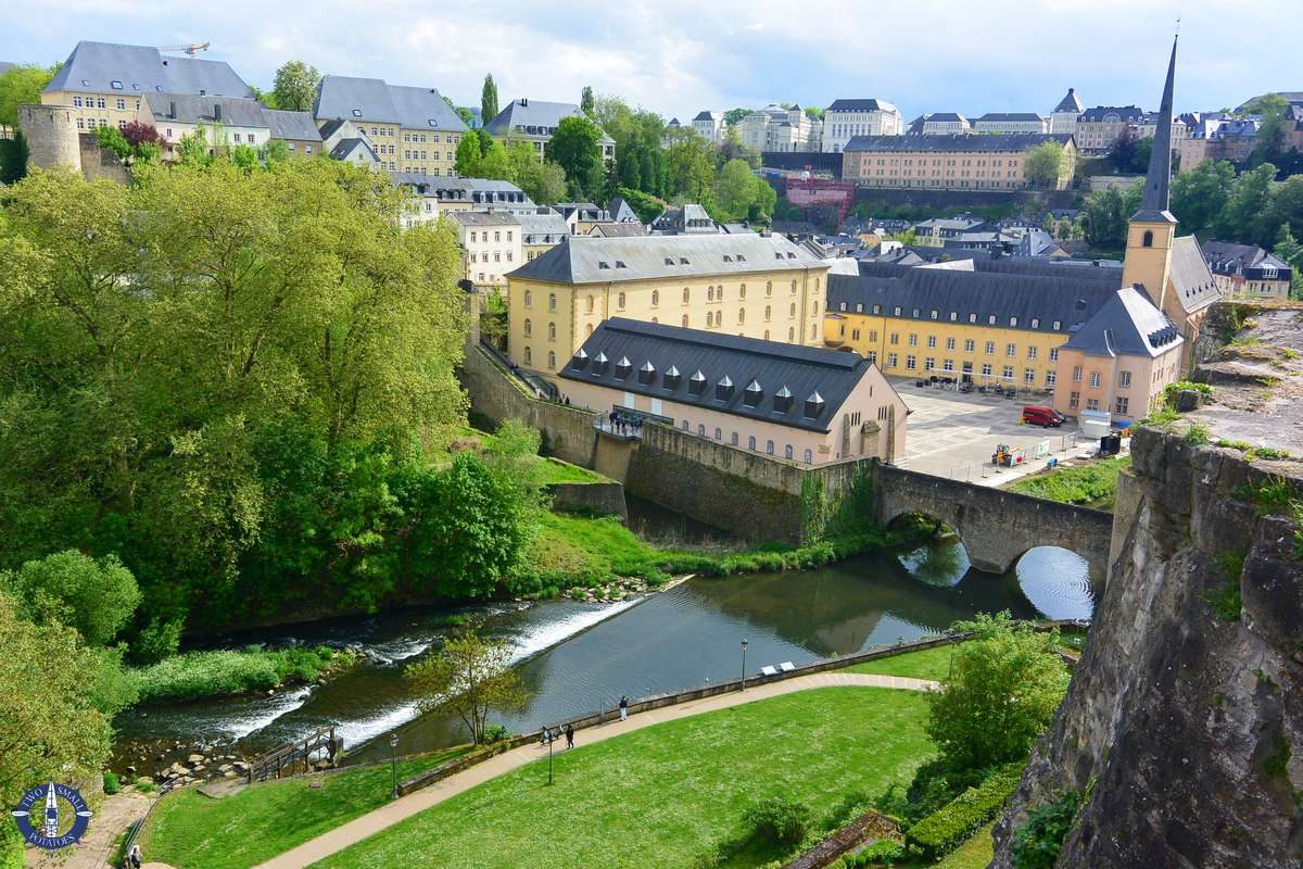 Views of Luxembourg City and the Alzette River